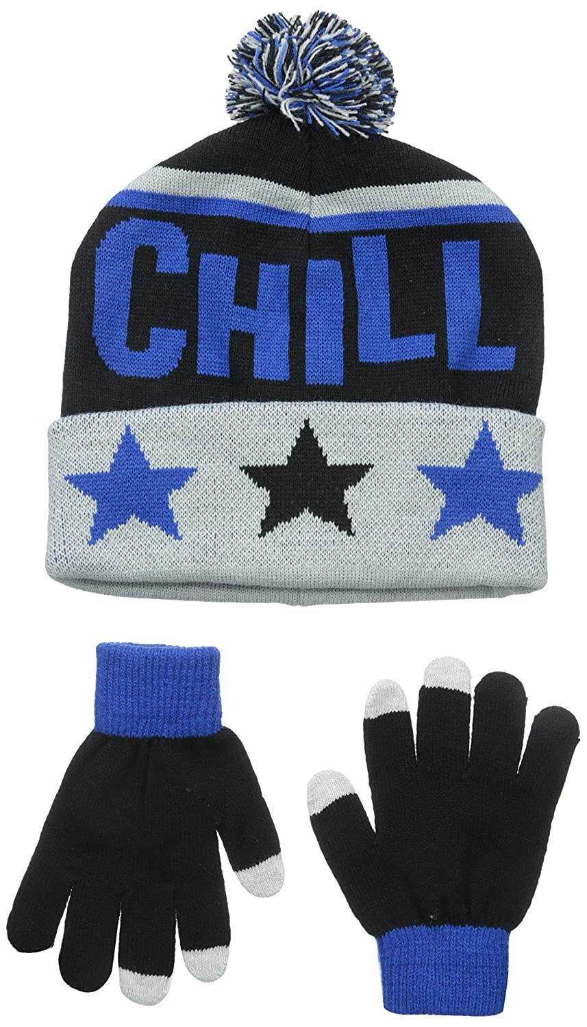 Toby /& Company Little Boys Campus Attitudes Hat and Gloves Set