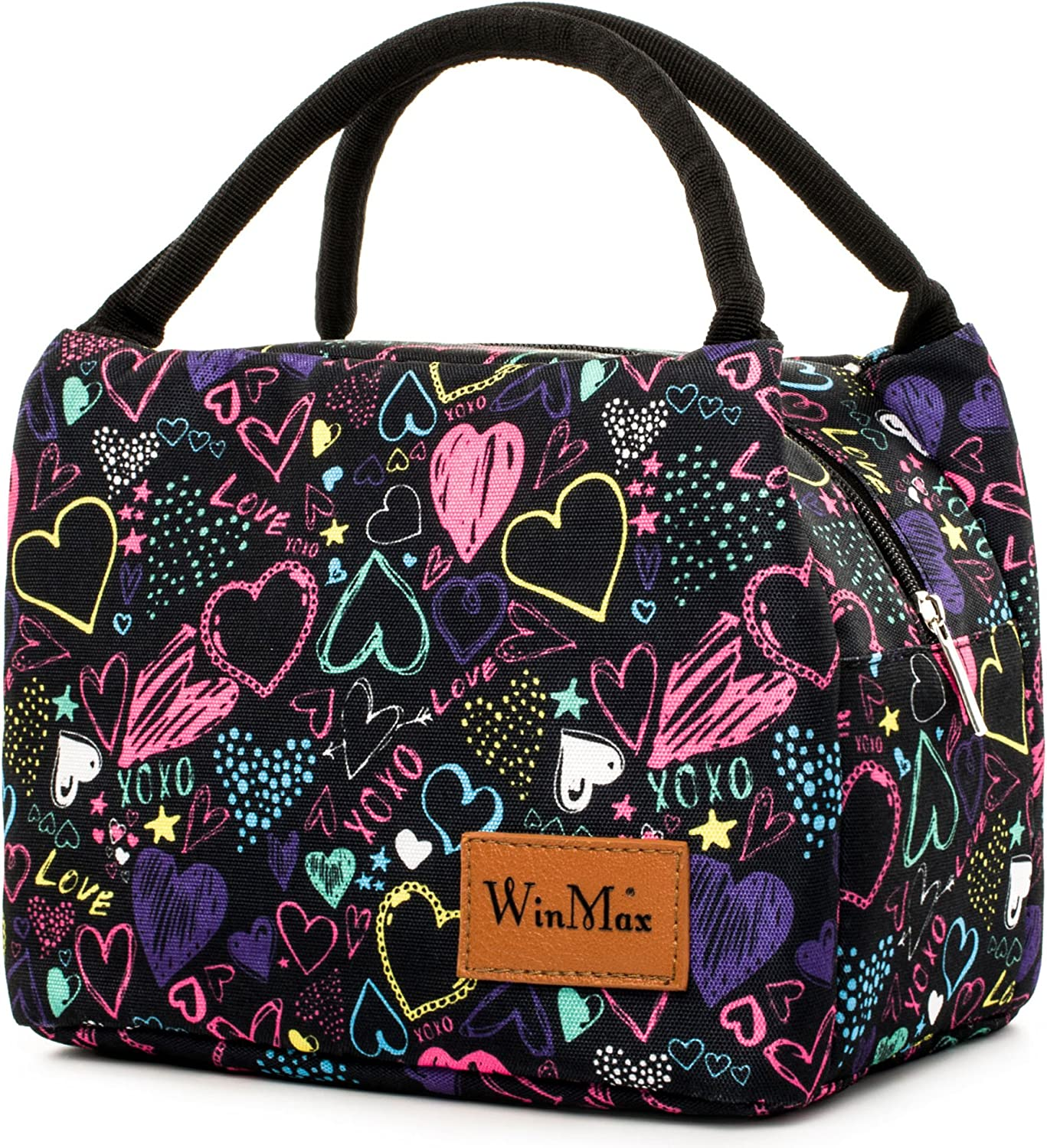 Lunch Bag Cute Lunch Box for Women Insulated Lunch Tote Bag Travel/Work/To-Go Food Containers Waterproof and No Leak