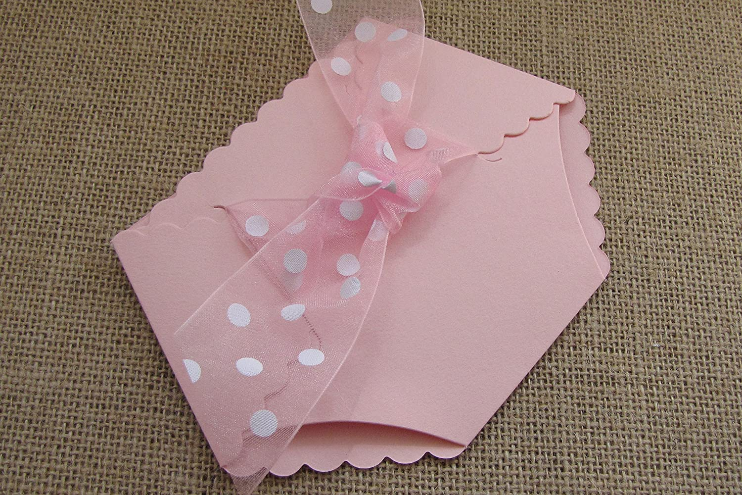 Amazon.com: Diaper Shaped Baby Shower Invitation (Pink): Kitchen ...
