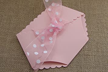 Amazoncom Diaper Shaped Baby Shower Invitation Pink Kitchen