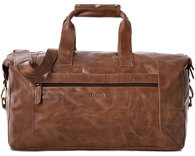 LEABAGS Dubai sac de voyage rétro-vintage en véritable cuir de buffle - CrazyVinkat chnUtDY