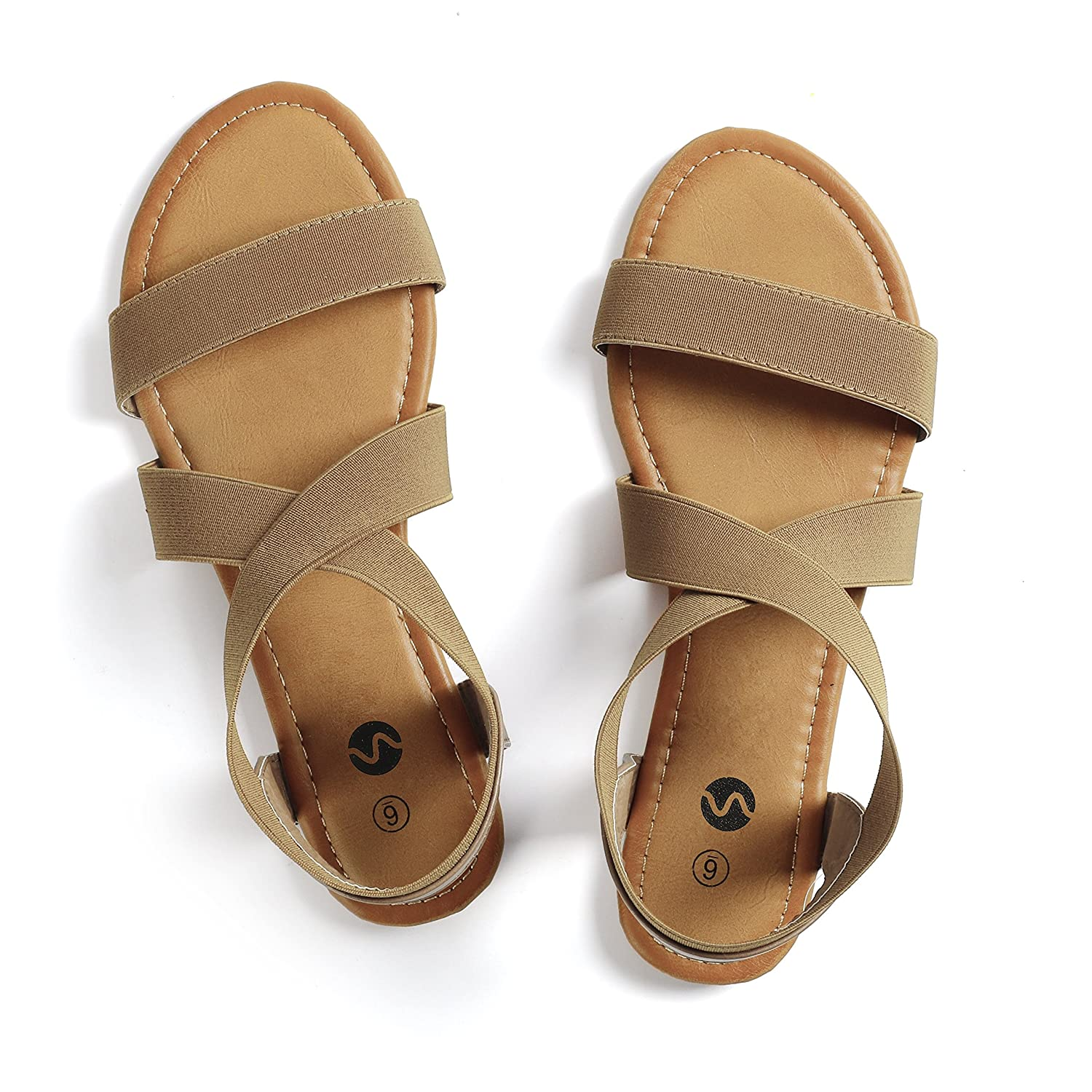 Rekayla Flat Elastic Sandals for Women