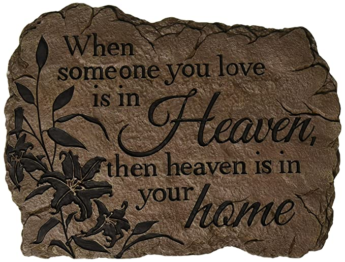 Carson Home Accents Garden Stone, Heaven Home, 10.5-Inch by 8-Inch