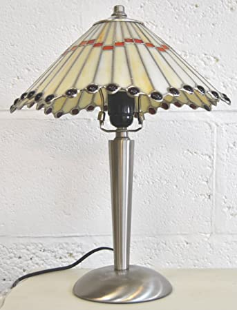 Four Seasons Tiffany Table Lamp In A Art Deco Style With