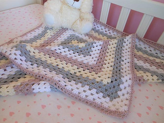 Hand Crochet Baby Blankets Crochet Granny Square Blanket For Baby