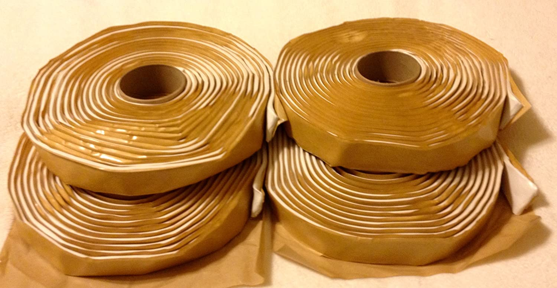 4-Pack Colorimetrics White Putty Tape Butyl Tape 3//16 x 1 x 20