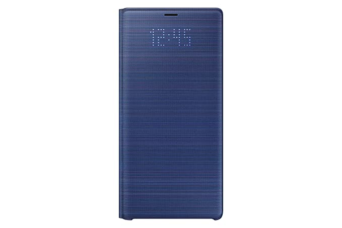 huge selection of 4cae9 76a60 Samsung Official Galaxy Note9 Case, LED View Wallet Cover - Blue