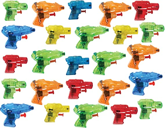 Amazon.com: Present Avenue - Mini pistola de agua colorida ...