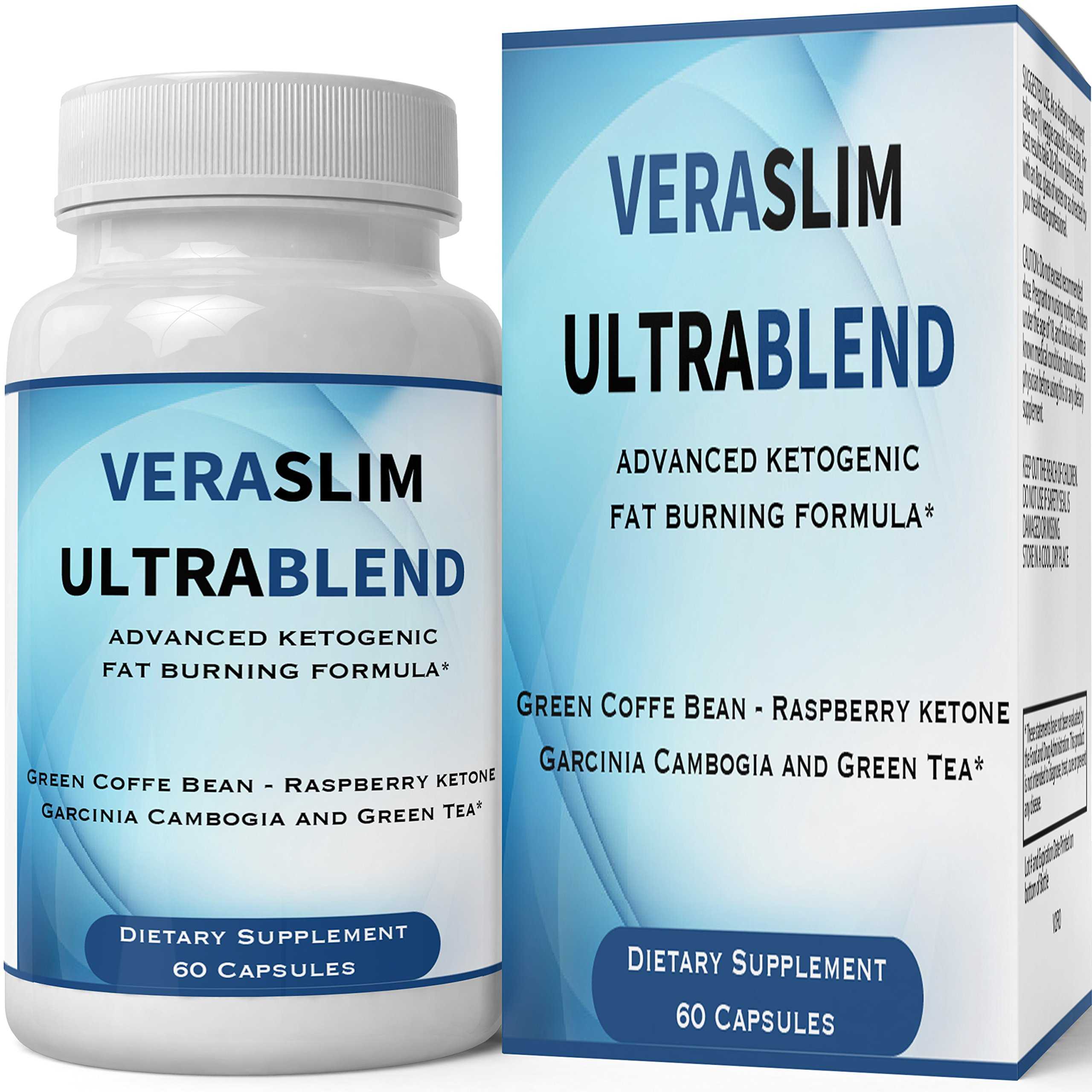 Vera Slim Ultra Blend Capsules with Garcinia Cambogia | Pills Weight Loss Supplement - Extreme Weightloss Lean Fat Burner | Pastillas for Women Men Natural Diet Supplement 60 Count