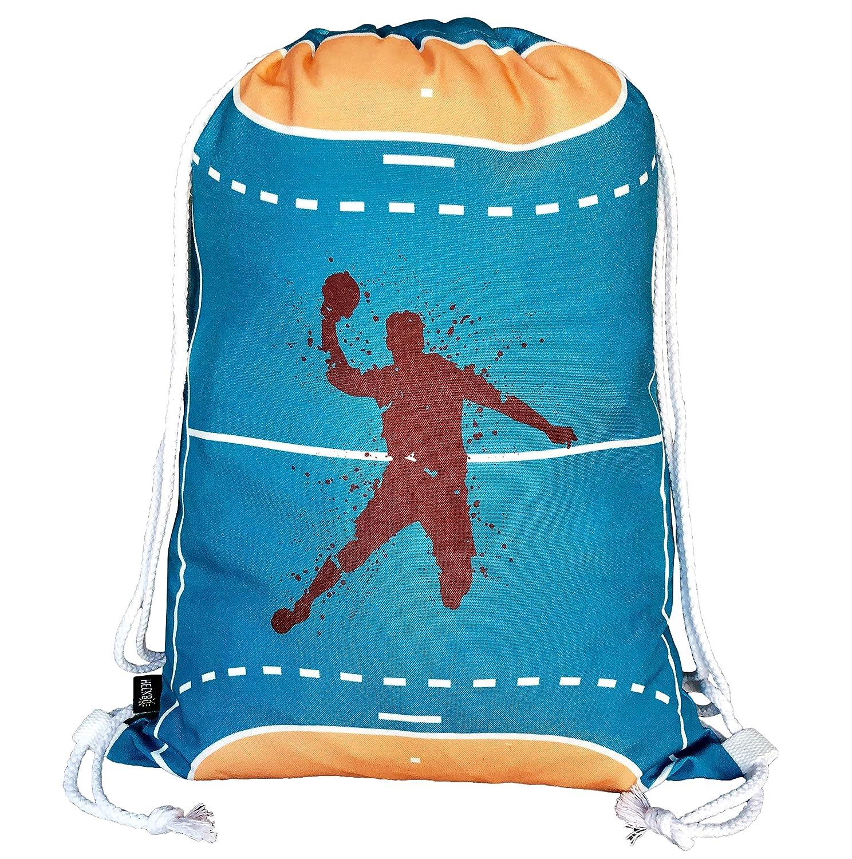 HECKBO/® sac de gym gar/çons /& filles handball sac de sport lavable en machine le voyage l/école sac /à dos la cr/èche sac de jeu 40x32cm le sport pour la maternelle sac de handball sac