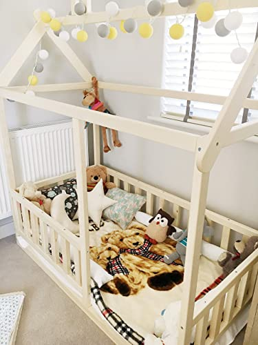 meet 2a74a 88c29 Toddler house bed with slats for the mattress size 140x70 cm ...