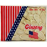 Green Bay American Ginseng Slices / Ginseng Slice / Sliced Ginseng Roots, 4 Oz Net Weight (Extra Large Size)