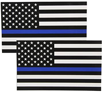Amazoncom Fine Line Flag Auto Decals Thin Blue Line Flag Sticker - Rebel flag truck decals   how to purchase and get a great value safely