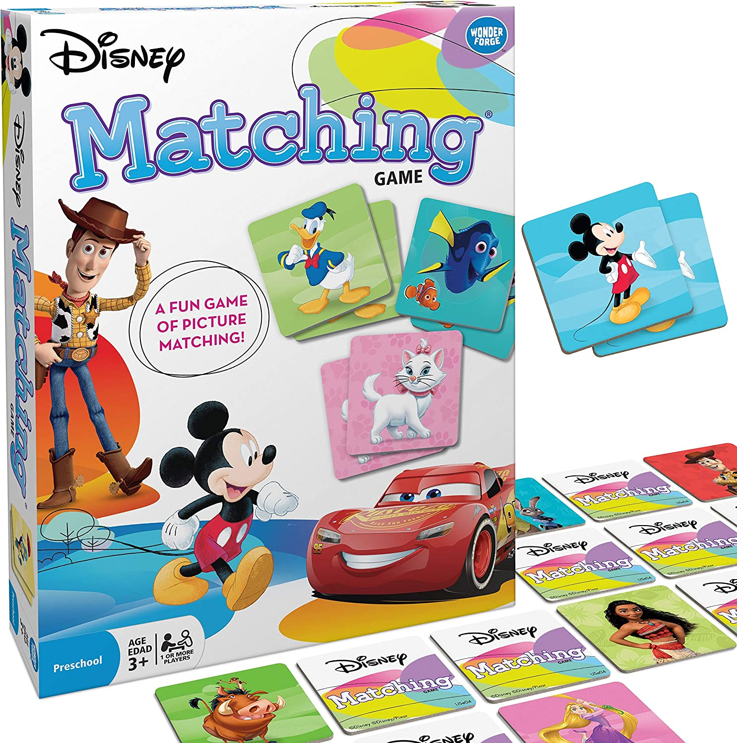 Disney matching game dyslexia board game