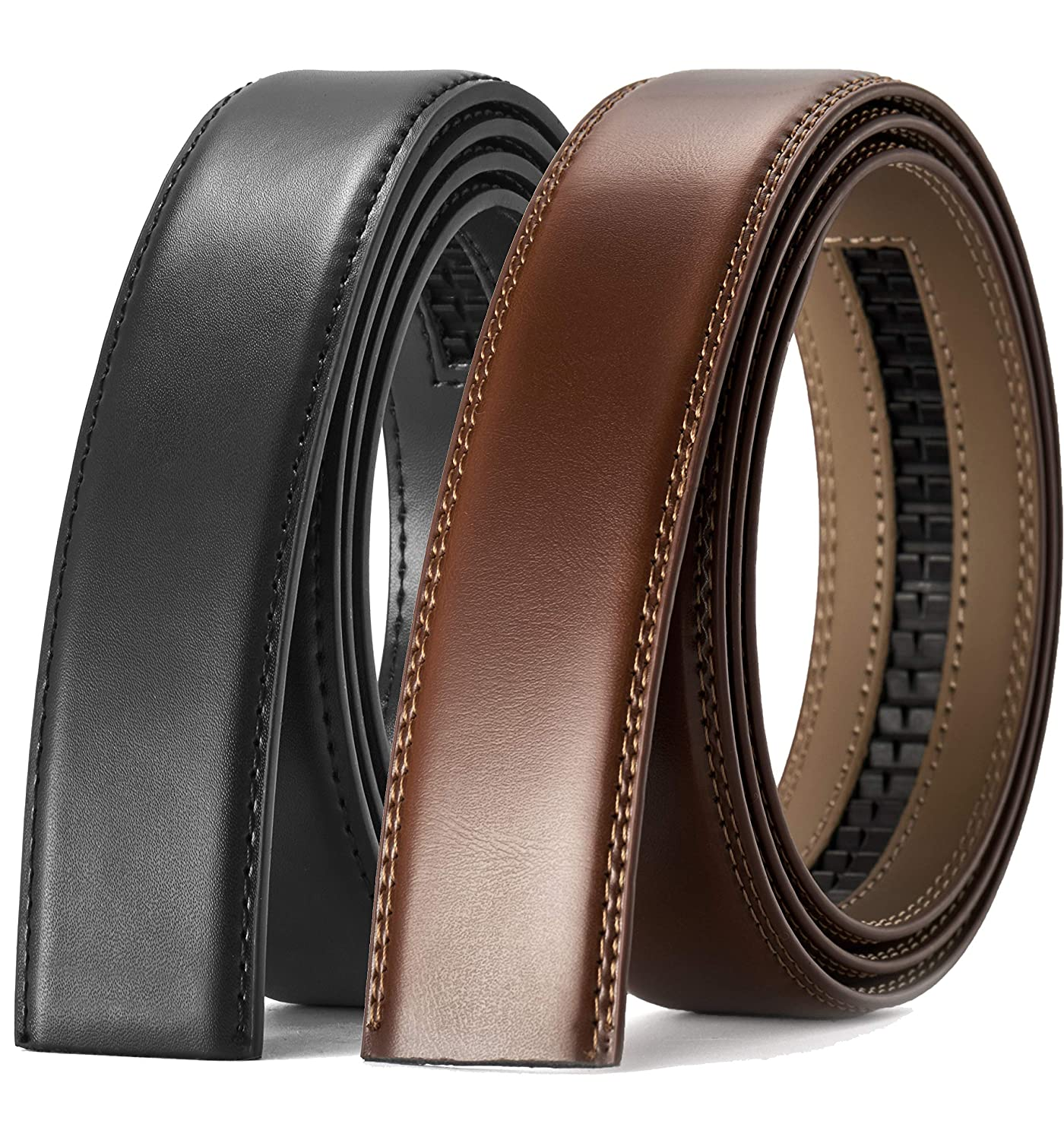 "CHAOREN Ratchet Belt Replacement Strap 1 3//8/"" Leather Belt Strap for 40MM Slide Click Buckle"