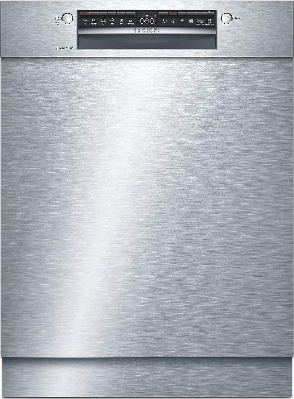 Bosch SMU4HAS48E Serie 4 - Lavavajillas (A++, 60 cm, acero inoxidable, 262 kWh/año, 13 MGD, SuperSilence, secado extra, cesta para cubiertos, Home Connect)