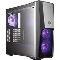 Cooler Master MasterBox MB500 gabinete de computadora Midi-Tower Negro - Caja de Ordenador (Midi-Tower, PC, De plástico, Acero, Vidrio Templado, ATX,Micro-ATX,Mini-ITX, Negro, Rojo/Verde/Azul)