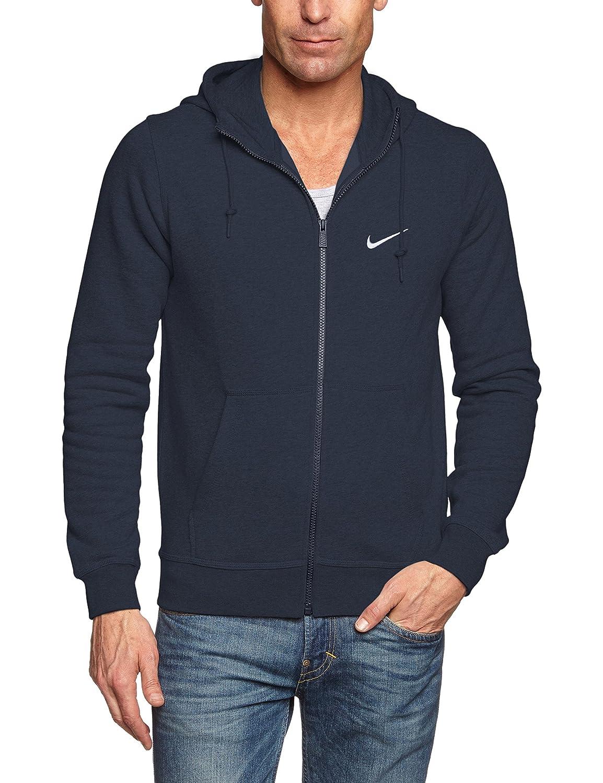 Nike Mens Club Swoosh Full Zip Fleece Hoodie
