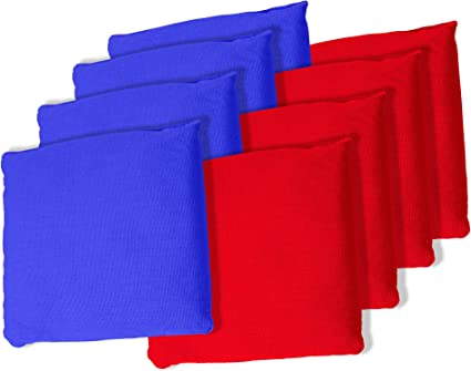 ACA REGULATION Cornhole Bag Set of 8 Hawaiian Islands on Red and Blue Backs