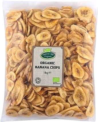 Comprar Chips de plátano orgánico 1kg de Hatton Hill Organic - Certificado orgánico