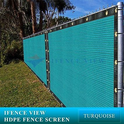 6e8edcaecd80 Amazon.com: Ifenceview 6'x3' to 6'x50' Turquoise (Green) Shade Cloth ...