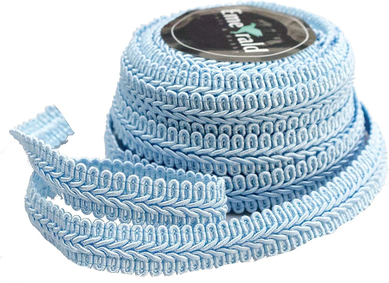 3//8 Inch, Royal Blue Gimp Braid Woven Ornamental Trim 10 Yards