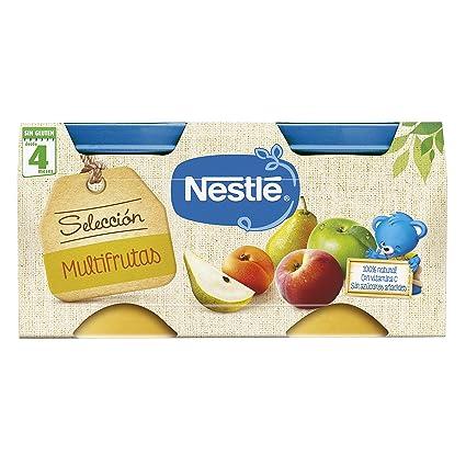 NESTLÉ SELECCIÓN tarrito de puré de fruta, variedad Multifrutas, para bebés a partir de