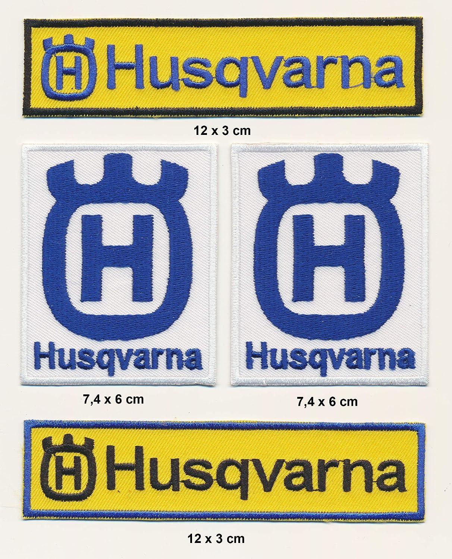 Husqvarna Parche para Planchar Parches 4 Unidades Set Moto MX Turbo Enví o Royal Garment