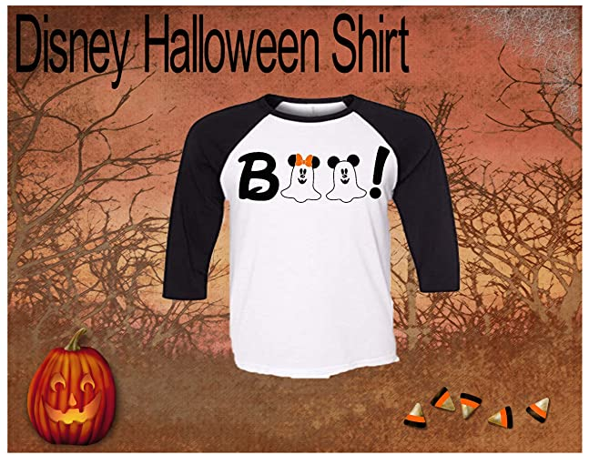 303d123d Image Unavailable. Image not available for. Color: Handmade Disney  Halloween Shirt ~ Boo ...