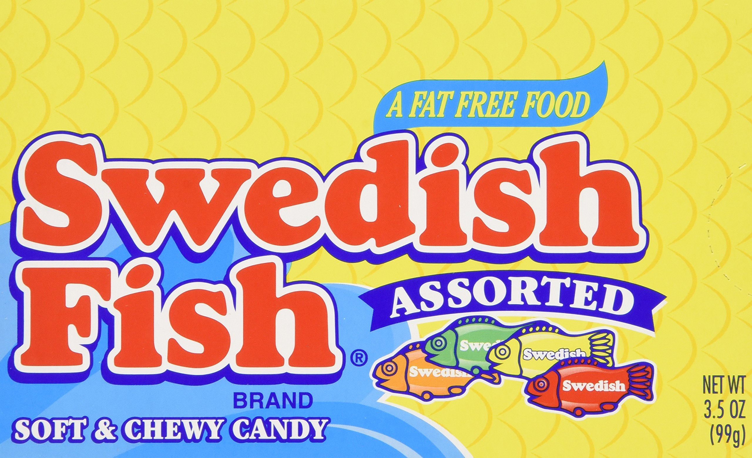 Swedish Fish Assorted Soft & Chewy Candy, 3.5-Ounce Boxes (Pack of 60) by Swedish Fish