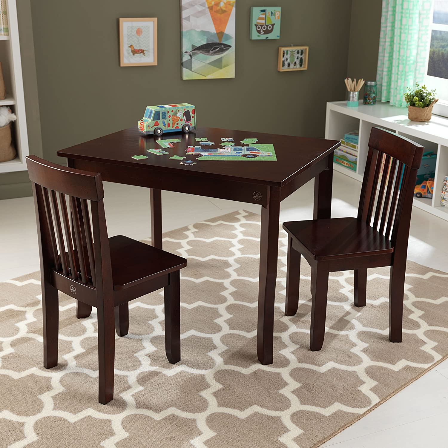 Amazon.com KidKraft Avalon Table II \u0026 2 Chairs Set Espresso Toys \u0026 Games & Amazon.com: KidKraft Avalon Table II \u0026 2 Chairs Set Espresso: Toys ...