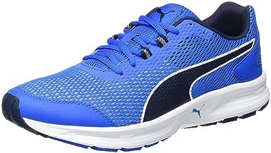 best service ae640 93772 Puma Descendant V4, Chaussures de Running Entrainement Homme, Bleu  (Electric Blue Lemonade