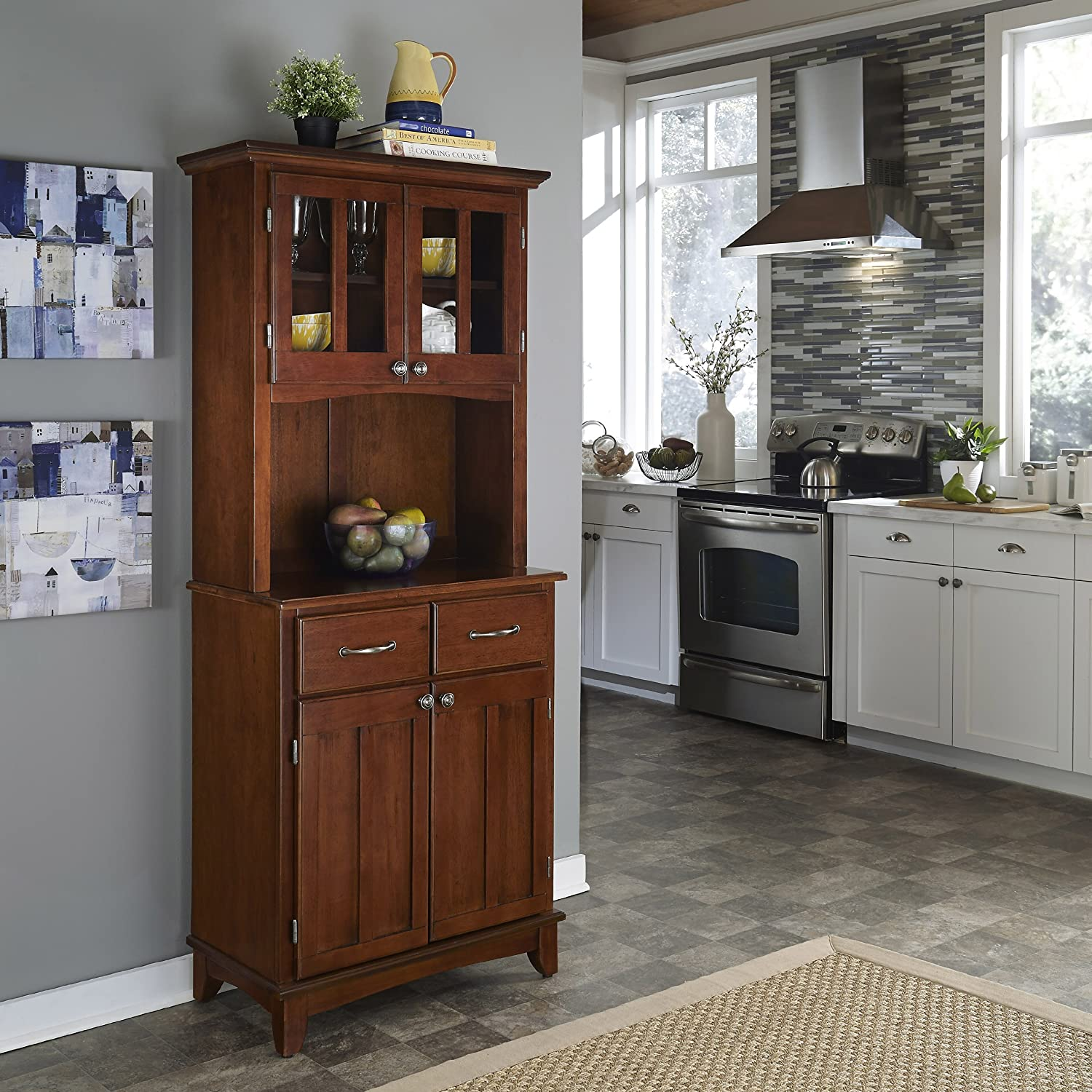 amazon com home styles 5001 0072 72 buffet of buffet 5001 series home styles 5001 0072 72 buffet of buffet 5001 series medium cherry wood top buffet server and hutch medium cherry 29 1 4 inch buffets sideboards