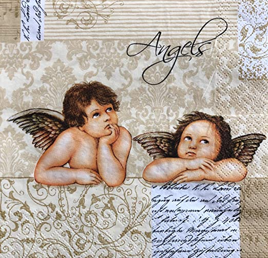 4 Individual Napkins for Craft /& Napkin Art. 33 x 33cm 4 Paper Napkins for Decoupage 3-ply Classic Music Silver White