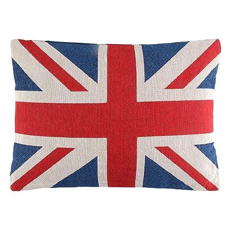 AllRight cojín de bandera británica Union Jack cojín relleno ...