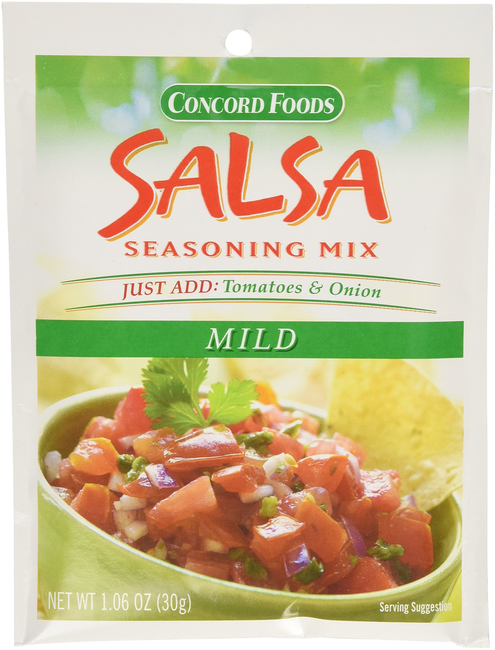 Concord Foods Mild Salsa Mix, 1.06-Ounce Pouches (VALUE Pack of 18 Pounces