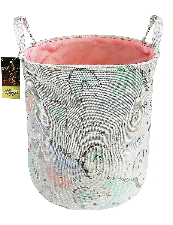 HUNRUNGLarge Laundry Hamper,Cartoon Organizer Bin for Baby Nursery,Toys,Laundry,Baby Clothing,Gift Baskets(Unicorn)