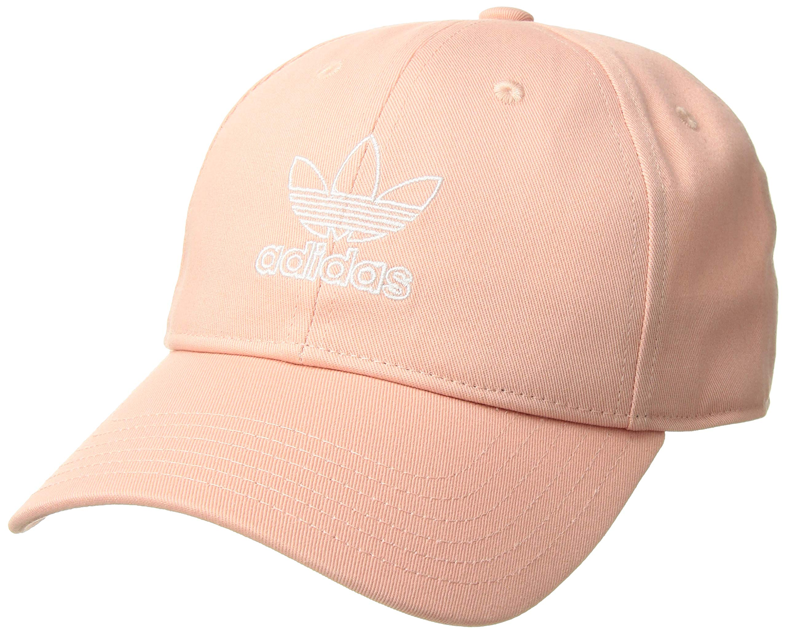adidas Originals Women's Relaxed Outline Cap, Dust Pink/White, ONE SIZE by adidas