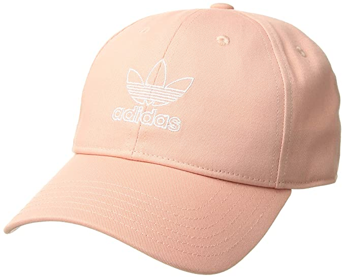942d471eb3524 adidas Originals Women's Relaxed Outline Cap, Dust Pink/White, ONE SIZE