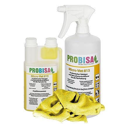 Neutralizadores de olor spray (Probisa Micro-Vet 813) de la orina del gato, perro y los roedores olores - y bio limpiador concentrado 500ml ...