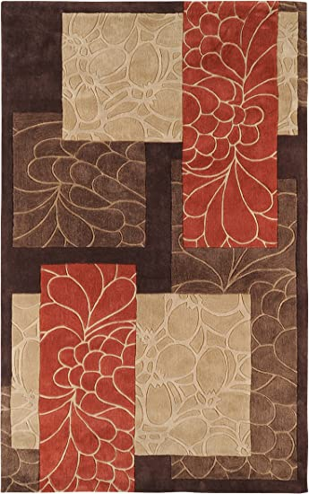 Surya Brown Transitional Area Rug Patchwork COS-8889