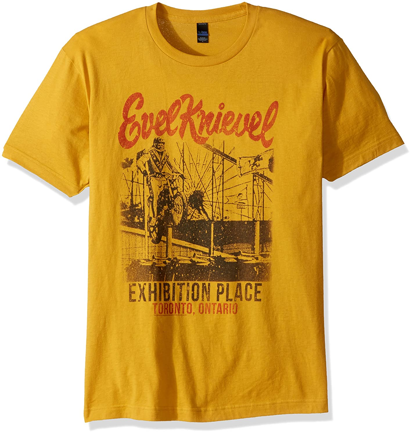 Evel Knievel American Iconic Daredevil Exhibition Place Toronto Adult T-Shirt American Classics EK5126