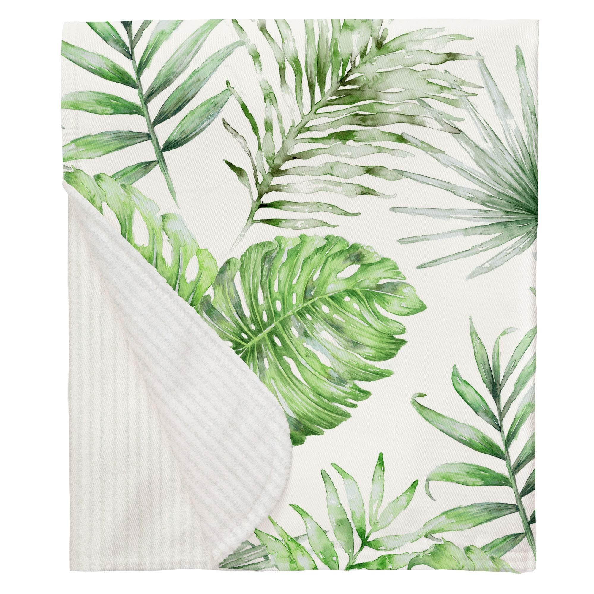 Carousel Designs Green Painted Tropical Crib Blanket