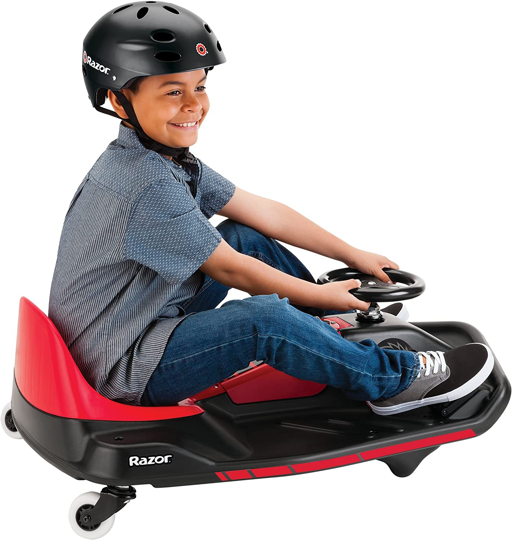 Red Electric Go Kart Razor Crazy Cart Shift Kids Go Kart