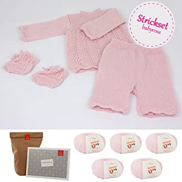 Myoma Stricksets Baby Diy Babyensemble Rosa Baby Stricken