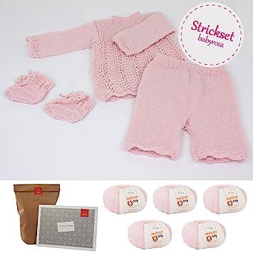 MyOma Stricksets Baby *DIY Babyensemble Rosa* Baby Stricken ...