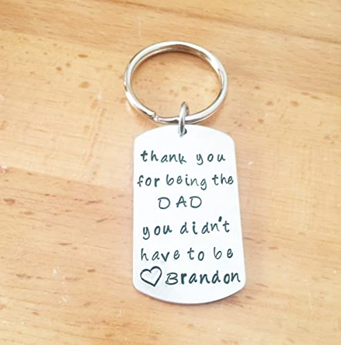 Amazon Personalized Step Dad Keychain Gift For Step Dad