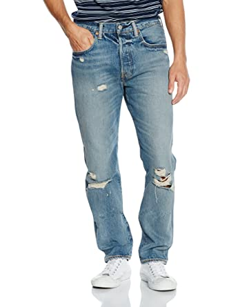 6d2226e2 Levis 501 CT Original Fit Mens Jeans Tapered Leg Button Fly W33-L34:  Amazon.co.uk: Clothing