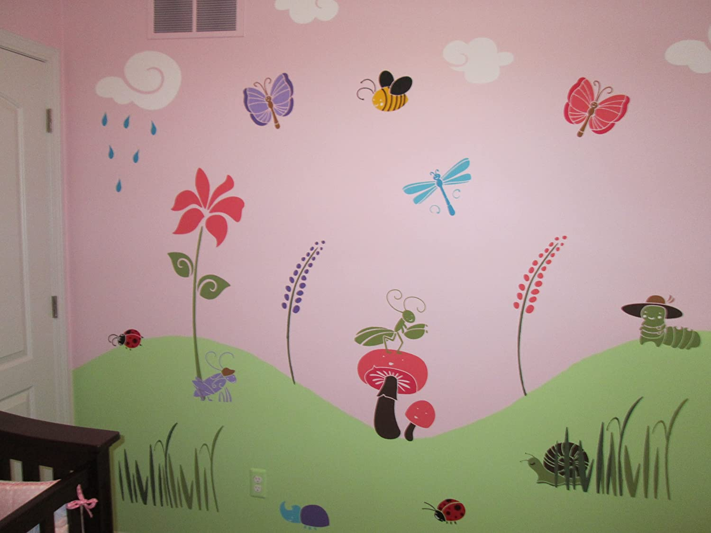 amazon com my wonderful walls bee stencil for painting bumble amazon com my wonderful walls bee stencil for painting bumble bees on walls and furniture home kitchen