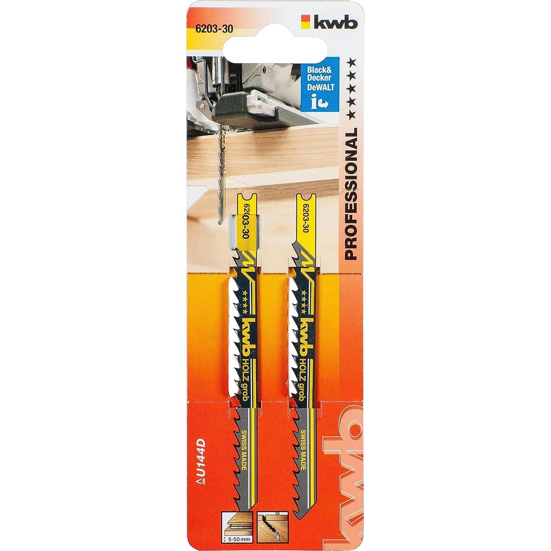KWB 620130 - Dos hojas de sierra de calar para madera 100/80 corte fino KWB PRO 6201-30